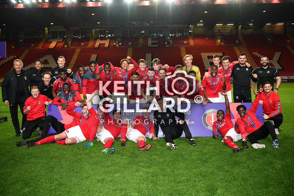 Charlton Athletic U18's v Crystal Palace U18's, Professional Development League 2 Play-Off Final, The Valley, 4 May  2018. <br /> <br /> <br /> Image by Keith Gillard