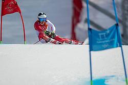 PYEONGCHANG-GUN, SOUTH KOREA - FEBRUARY 18: Loic Meillard of Switzerland competes during the Alpine Skiing Men's Giant Slalom at Yongpyong Alpine Centre on February 18, 2018 in Pyeongchang-gun, South Korea.Photo by Ronald Hoogendoorn / Sportida