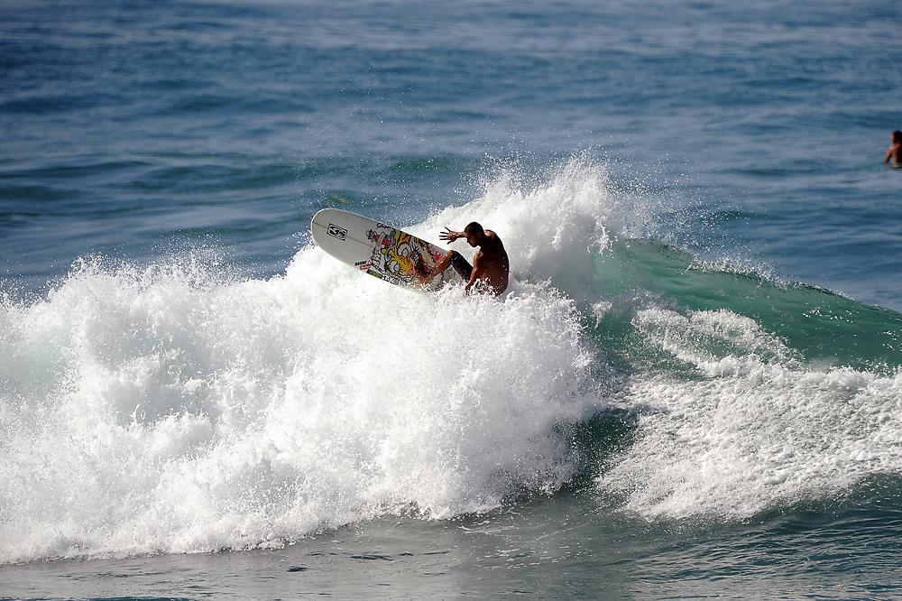 November 2nd 2010: Bonga Perkins of Hawaii free surfing at Makaha Oahu-Hawaii. Photo by Matt Roberts/mattrIMAGES.com.au
