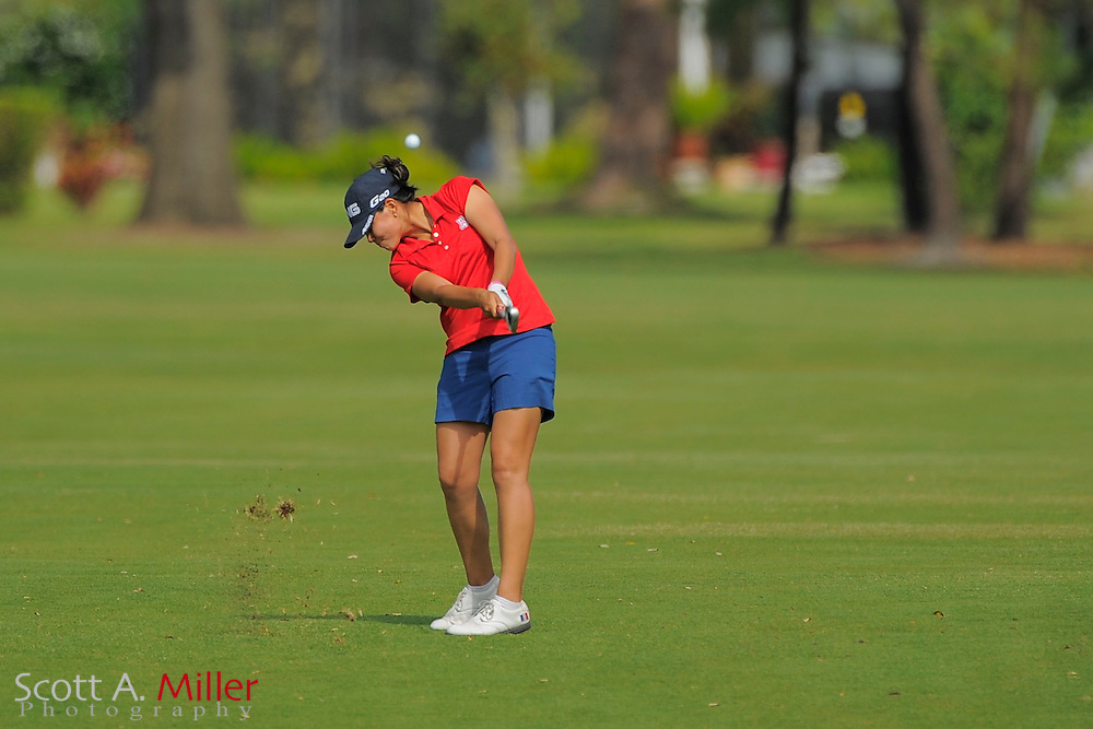 Isabelle Boineau during the final round of the Symetra Tour's Guardian Retirement Championship at Sara Bay in Sarasota, Florida April 28, 2013. ..©2013 Scott A. Miller