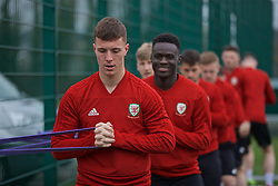 NEWPORT, WALES - Thursday, March 21, 2019: Wales' Ryan Sears during an Under-21 training session at Dragon Park. (Pic by David Rawcliffe/Propaganda)