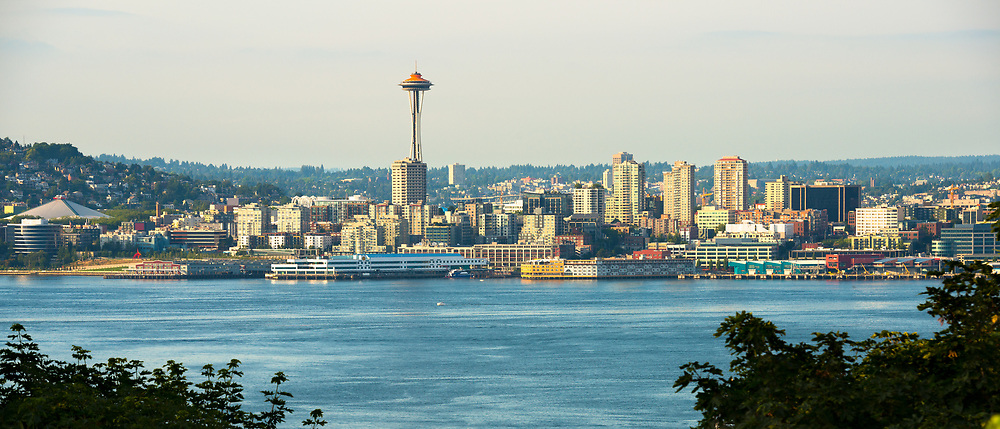 Queen Anne district skyline in Seattle, Washington State, USA