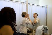Bridal party gets ready at Maja's house