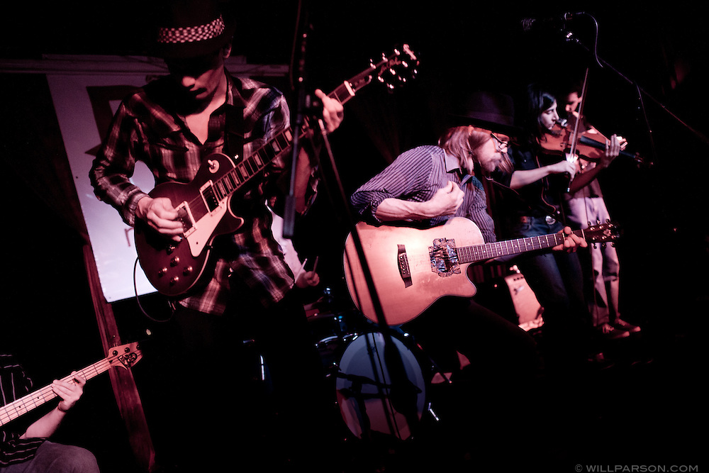 San Diego-based sonic folk group River City plays Ruby Room, Feb. 18, 2011.