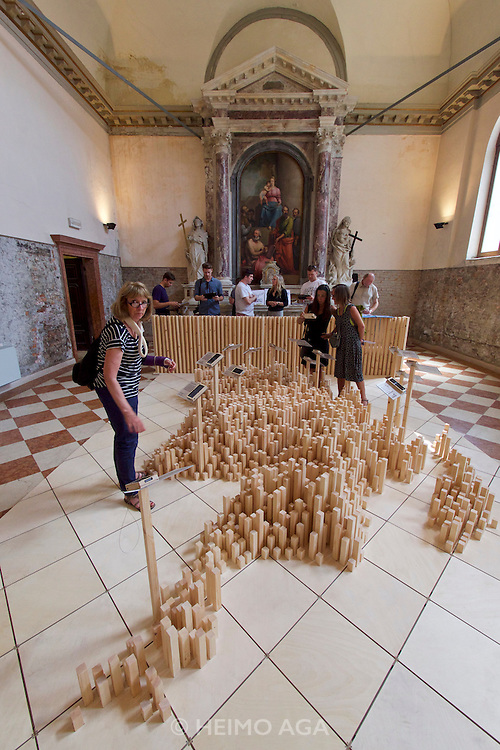"""Venice, Italy - 15th Architecture Biennale 2016, """"Reporting from the Front"""".<br /> Prospect North: Scotland's Communities."""