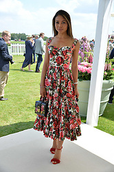 Viscountess Weymouth at Cartier Queen's Cup Polo, Guard's Polo Club, Berkshire, England. 18 June 2017.<br /> Photo by Dominic O'Neill/SilverHub 0203 174 1069 sales@silverhubmedia.com