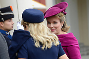 Bezoek van Zijne Majesteit Koning Filip en Hare Majesteit Koningin Matilda van Belgi&euml; aan Nederland.Aankomst en ontvangst op Paleis Noordeinde.<br /> <br /> Visit of His Majesty King Filip and Her Majesty Queen Matilda of Belgium to Netherlands. Arrival and reception at Noordeinde Palace.<br /> <br /> op de foto / On the photo:  Belgische koning Filip en koningin Matilda / Belgian King Filip and Queen Matilda