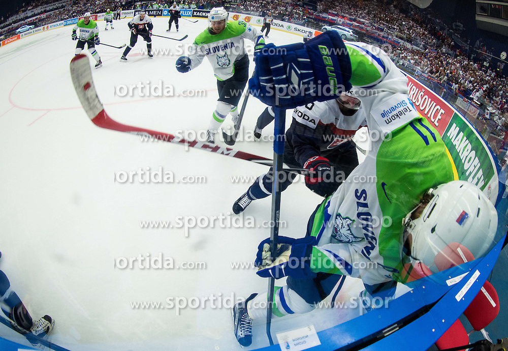Anze Kopitar of Slovenia during Ice Hockey match between Slovakia and Slovenia at Day 5 in Group B of 2015 IIHF World Championship, on May 5, 2015 in CEZ Arena, Ostrava, Czech Republic. Photo by Vid Ponikvar / Sportida