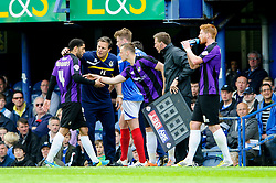 Danny Woodards (ENG) of Bristol Rovers is substituted - Photo mandatory by-line: Rogan Thomson/JMP - 07966 386802 - 19/04/2014 - SPORT - FOOTBALL - Fratton Park, Portsmouth - Portsmouth FC v Bristol Rovers - Sky Bet Football League 2.