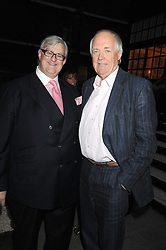 Left to right, DAVID MORGAN-HEWITT Managing director The Goring London and SIR TIM RICE at the Goring Hotel Summer party, Goring Hotel, 15 Beeston Place, London on 17th September 2008.