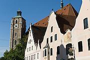 Liebfrauenmünster, Giebel, Theresienstraße, Fußgängerzone, Altstadt, Ingolstadt, Bayern, Deutschland | Church Our Lady, Theresien Street, pedestrian mall, old town, Ingolstadt, Bavaria, Germany