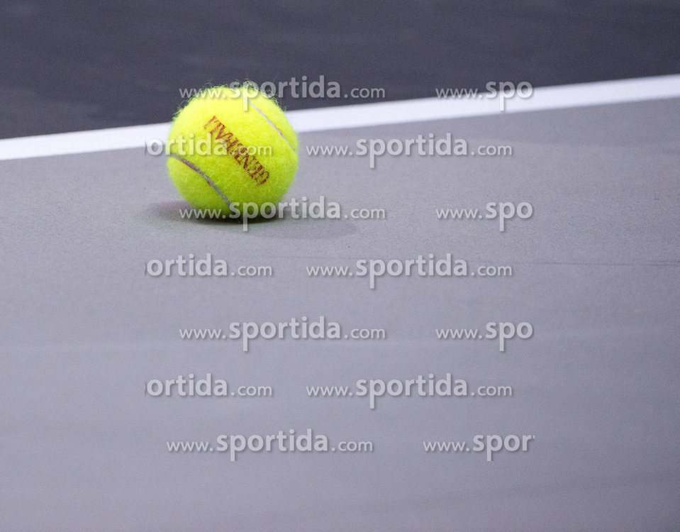 15.10.2015, TipsArena, Linz, AUT, WTA, Generali Ladies Linz, im Bild ball // during WTA Generali Ladies Linz Tournament at the TipsArena, Linz, Austria on 2015/10/15, EXPA Pictures © 2015, PhotoCredit: EXPA/ Reinhard Eisenbauer