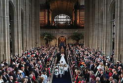 The Duke of York walks his daughter Princess Eugenie down the aisle for her wedding to Jack Brooksbank at St George's Chapel in Windsor Castle.