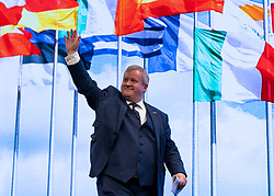 Edinburgh, Scotland, UK. 28 April, 2019. Day 2 of thee SNP ( Scottish National Party) Spring Conference takes place at the EICC ( Edinburgh International Conference Centre) in Edinburgh. Pictured; Ian Blackford MP, Westminster Group Leader for the SNP after his address to the delegates.
