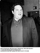 Harvey Weinstein. Miramax party. Manhattan. 1995. Film 95430f17<br />© Copyright Photograph by Dafydd Jones<br />66 Stockwell Park Rd. London SW9 0DA<br />Tel 0171 733 0108