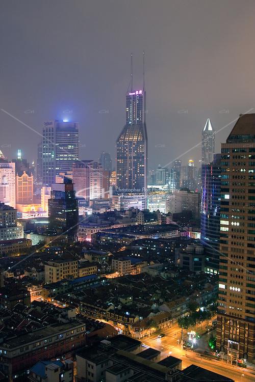 night scene of Shanghai China