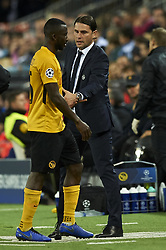 November 7, 2018 - Valencia, Spain - Red card to Sanogo of Young Boys and Gerardo Seoane of Young Boys during the Group H match of the UEFA Champions League between Valencia and Young Boys at Mestalla Stadium, Valencia on November 07 of 2018. (Credit Image: © Jose Breton/NurPhoto via ZUMA Press)