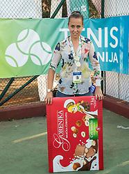 Nina Spremo at Tenis fest ceremony during Day 7 at ATP Challenger Zavarovalnica Sava Slovenia Open 2018, on August 9, 2018 in Sports centre, Portoroz/Portorose, Slovenia. Photo by Vid Ponikvar / Sportida