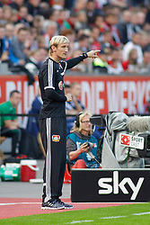 28.09.2013, BayArena, Leverkusen, GER, 1. FBL, Bayer 04 Leverkusen vs Hannover 96, 7. Runde, im Bild Trainer Sami Hyypiae (Bayer 04 Leverkusen) gibt Anweisungen.Freisteller // during the German Bundesliga 7th round match between Bayer 04 Leverkusen and Hannover at the BayArena, Leverkusen, Germany on 2013/09/28. EXPA Pictures © 2013, PhotoCredit: EXPA/ Eibner/ Grimme<br /> <br /> ***** ATTENTION - OUT OF GER *****