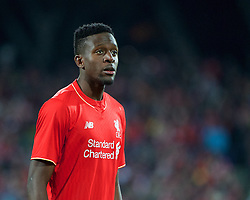 ADELAIDE, AUSTRALIA - Monday, July 20, 2015: Liverpool's Divock Origi in action against Adelaide United during a preseason friendly match at the Adelaide Oval on day eight of the club's preseason tour. (Pic by David Rawcliffe/Propaganda)