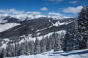 Vail Ski Area & Gore Mountain Range, Vail, Colorado
