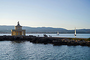 Lighthouse of Saint Theodoroi (St Theodore), Fanari Beach, Argostoli, Cephalonia, Ionian Islands, Greece