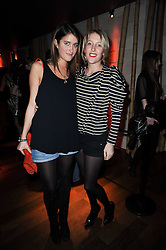 Left to right, VIOLET VON WESTENHOLZ and DAISY BLOUNT at the Tatler Little Black Book Party held at Chinawhite, 4 Winsley Street, London on 20th November 2009.