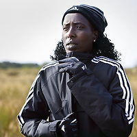 Nederland, Castricum , 21 september 2009..Lornah Kiplagat  is een Nederlandse langeafstandsloopster van Keniaanse origine. Ze heeft verschillende wereldrecords in handen, verzamelde vier wereldtitels en één Europese titel. Kiplagat richt zich niet alleen op de weg, maar ook actief is op de baan en in het veld. Daarnaast runt zij sinds 2000 samen met haar man en trainer/manager Pieter Langenhorst in Iten, Kenia, haar eigen trainingscentrum. .Lornah Kiplagat is a Dutch long distance runner of Kenyan origin. She runs her own training center in Kenya