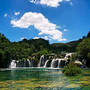 Les chutes Stradinski Buk sur la rivière Krka