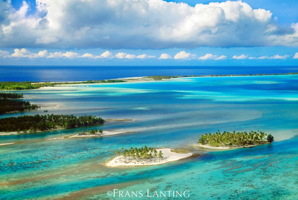 Main lagoon view (aerial), Bora Bora, Tahiti