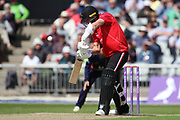 Leicestershire Foxes Chris Wright during the Royal London 1 Day Cup match between Lancashire County Cricket Club and Leicestershire County Cricket Club at the Emirates, Old Trafford, Manchester, United Kingdom on 28 April 2019.