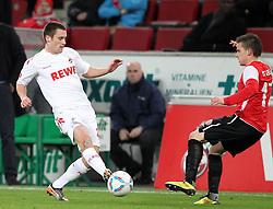 13.12.2011, Rhein Energie Stadion, Koeln, GER, 1.FBL, 1. FC Koeln vs Mainz 05, im BildHenrique Sereno (Koeln #17) gegen Zoltan Stieber (Mainz #17) // during the 1.FBL, 1. FC Koeln vs Mainz 05 on 2011/12/13, Rhein-Energie Stadion, Köln, Germany. EXPA Pictures © 2011, PhotoCredit: EXPA/ nph/ Mueller..***** ATTENTION - OUT OF GER, CRO *****