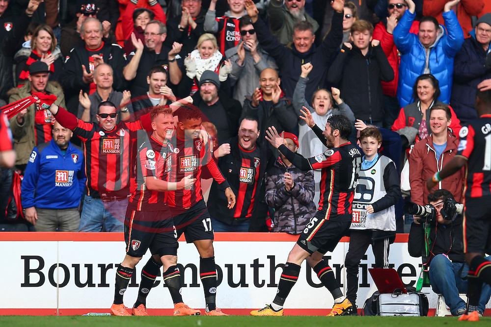 Goal, Joshua King of Bournemouth scores, Bournemouth 2-1Swansea City - Mandatory by-line: Jason Brown/JMP - Mobile 07966 386802 12/03/2016 - SPORT - FOOTBALL - Bournemouth, Vitality Stadium - AFC Bournemouth v Swansea City - Barclays Premier League