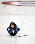 TREVOR HAGAN - Skip, Tina Kozak, playing out of the Brookdale Curling Club, watches her shot during the Scotties Provincial Curling Championships in Altona.<br /> January 28, 2011