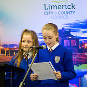 08/12/2015                <br /> Limerick City & County Council launches Ireland 2016 Centenary Programme<br /> <br /> An extensive programme of events across the seven programme strands of the Ireland 2016 Centenary Programme was launched at the Granary Library, Michael Street, Limerick, last night (Monday, 7 December 2015) by Cllr. Liam Galvin, Mayor of the City and County of Limerick.<br /> <br /> Led by Limerick City & County Council and under the guidance of the local 1916 Co-ordinator, the programme is the outcome of consultations with interested local groups, organisations and individuals who were invited to participate in the planning and implementation of events and initiatives during 2016.  <br /> <br /> Pictured at the event was Rebecca Murphy, St. Patricks Girls NS. Picture: Alan Place