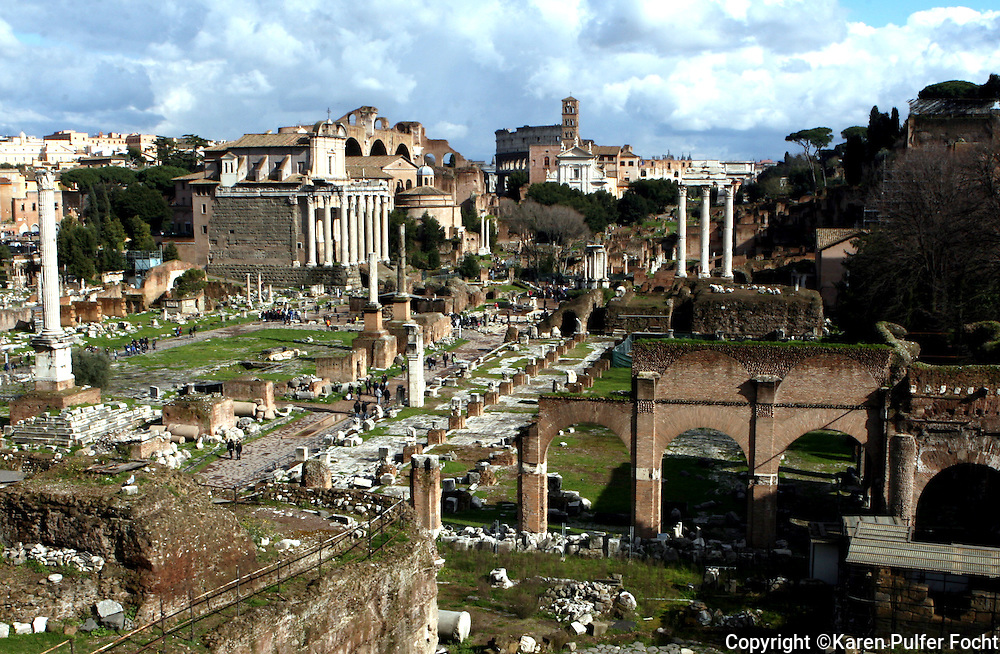 Ruins in Rome, Italy.