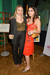 Left to right, BECKY TONG and MADDIE MILLS at an Evening of Riviera Inspired Glamour in aid of CLIC Sargentheld at Sketch, 9 Conduit Street, London on 25th January 2016.