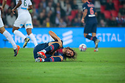 Edinson Roberto Paulo Cavani Gomez (El Matador) (El Botija) (Florestan) (PSG) on the floor after been hurted during the French Championship Ligue 1 football match between Paris Saint-Germain and AS Saint-Etienne on September 14, 2018 at Parc des Princes stadium in Paris, France - Photo Stephane Allaman / ProSportsImages / DPPI