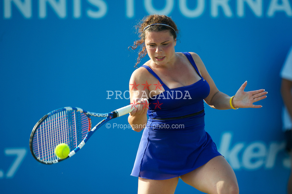 LIVERPOOL, ENGLAND - Thursday, June 17, 2010: Amy Askew (GBR) during the Ladies' Singles on day two of the Liverpool International Tennis Tournament at Calderstones Park. (Pic by David Rawcliffe/Propaganda)