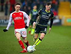 Ollie Clarke of Bristol Rovers shuts down Ashley Hunter of Fleetwood Town - Mandatory by-line: Robbie Stephenson/JMP - 02/04/2018 - FOOTBALL - Highbury Stadium - Fleetwood, England - Fleetwood Town v Bristol Rovers - Sky Bet League One