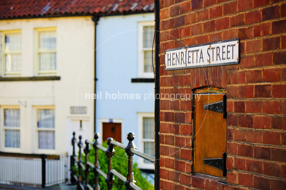 Houses and cottages on Henrietta Street Whitby