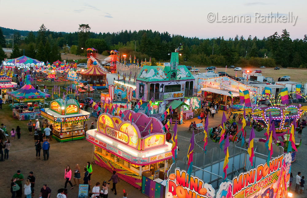 Events at the Saanich Fair in Victoria, BC included rides, food, and agriculture