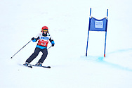"""Schladming, Austria - 2017 March 19: Laurence Carlier D'Odeign from Belgium (63) competes in Alpine Skiing Competition while Special Olympics World Winter Games Austria 2017 on the """"Sepp-Walcher-Downhill""""<br /> (Slope 32) near the """"Tauernalm"""" in Rohrmoos on March 19, 2017 in Schladming, Austria.<br /> <br /> Mandatory credit:<br /> Photo by © Adam Nurkiewicz / Mediasport<br /> <br /> Adam Nurkiewicz declares that he has no rights to the image of people at the photographs of his authorship.<br /> <br /> Picture also available in RAW (NEF) or TIFF format on special request.<br /> <br /> Any editorial, commercial or promotional use requires written permission from the author of image.<br /> <br /> Image can be used in the press when the method of use and the signature does not hurt people on the picture."""