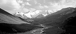 "China, Anye Machen, 2005. One of the many approaches to the eight day ""kora"" or circumnavigation of Anye Machen, which at 15,000 ft, is holy to Tibetan Buddhists.."