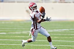 September 24, 2011; San Jose, CA, USA; New Mexico State Aggies wide receiver Todd Lee (7) catches a pass against the San Jose State Spartans during the third quarter at Spartan Stadium. San Jose State defeated New Mexico State 34-24.