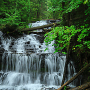 """""""Wagner Falls""""<br /> <br /> Wonderful and scenic Wagner Falls in Michigan's Upper Peninsula. Surrounded by lush green trees, and forest!!<br /> <br /> Waterfalls by Rachel Cohen"""