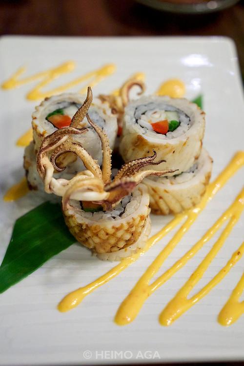 Phnom Penh, Cambodia. Rahu sushi and seafood restaurant.