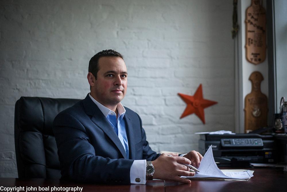 Dan Backer, of DB Capitol Strategies, near his Alexandria, VA office, on Saturday, September 12, 2015.  John Boal/for New York Magazine
