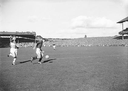 All Ireland Senior Football Final Down v. Offaly 24th September 1961...24.09.1961  24th September 1961E. McKay, G. Lavery, L. Murphy, P. Rice, P. O'Hagan, D. McCartan, J. Smith, J. Carey, J. Lennon, S. O'Neill, J. McCartan, P. Doherty (Captain), A. Hadden, P. J. McIlroy, B. Morgan..Subs: K. O'Neill for P. Rice; Rice for G. Lavery..P. Doherty (Captain).