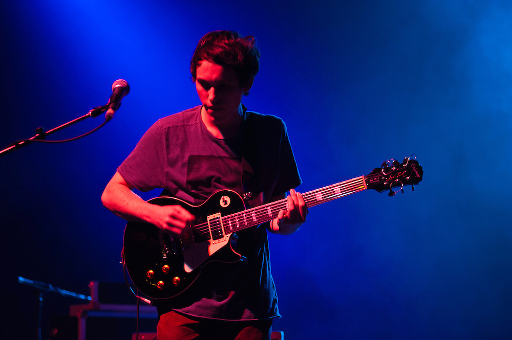 London, Uk - 14 September 2012: Igor Haefeli (guitar) of the band 'Daughter' performs live at the HMV Hammersmith Apollo.